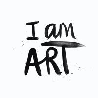 I am art white splatter